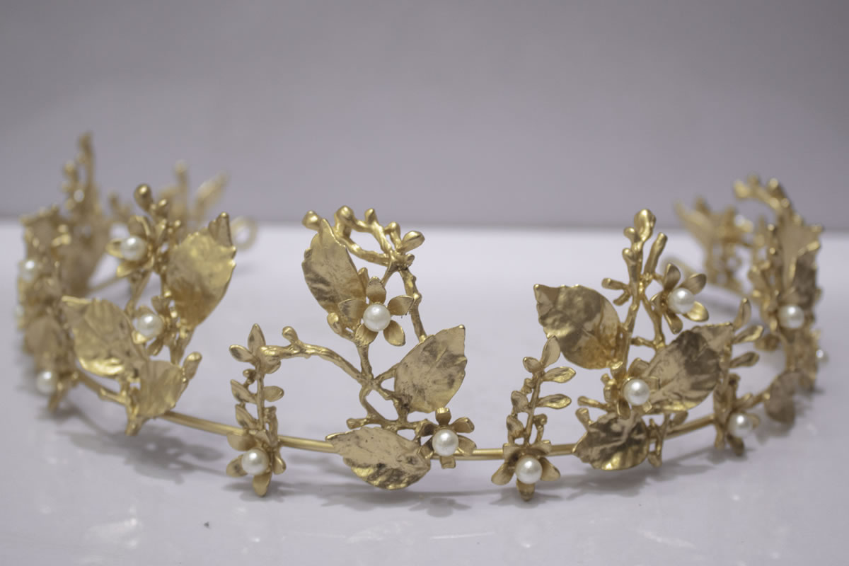 Gold Foresty Tiara