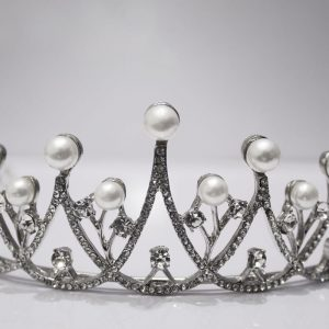 Simple Pearls & Bling Tiara