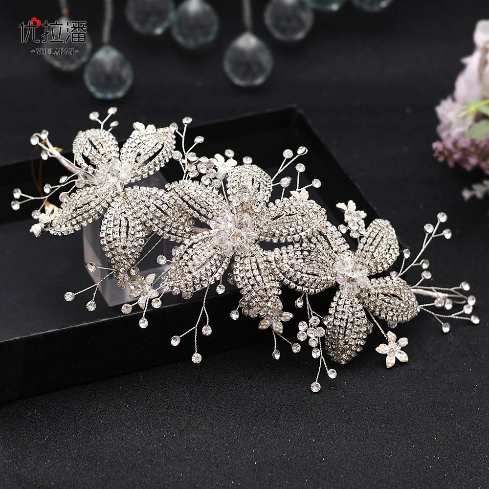 Floral Design Hair Accessory With Pearl Accents